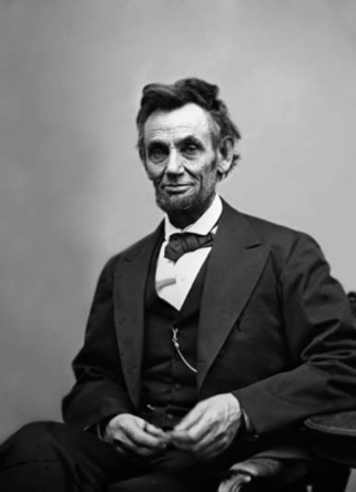 This is Lincoln's last portrait, purportedly taken on April 10, 1865—one week before his assassination. It's also one of the few portraits that shows Lincoln grinning.