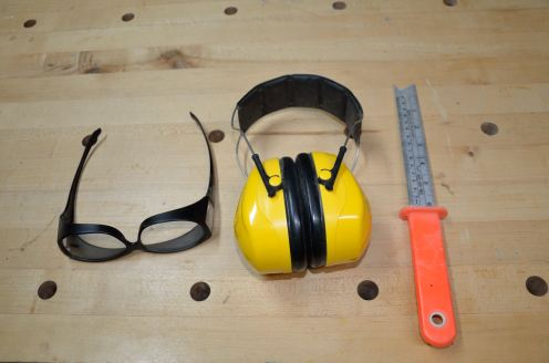 SAFETY. I always use safety goggles and a push stick on the table saw. Always. Hearing protection is required with a planer or jointer; some use it with a router or table saw as well.