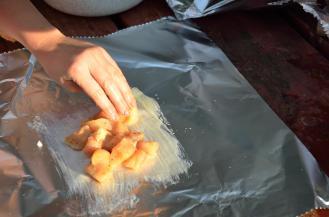 A handful of chicken nuggets ... frozen is fine.