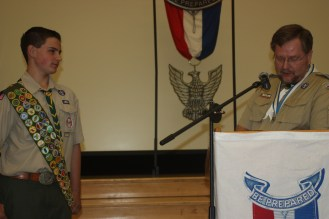 The Eagle Scout should be the center of attention as much as possible ... not the adults. It's about the boy.