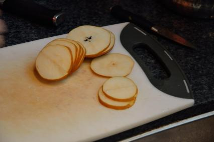 Pear slices.
