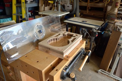 Clamp the bowl down so you can route the bowl shape using a router.