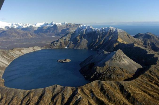 Lake in Kaguyak Crater. From the National Park Service website.