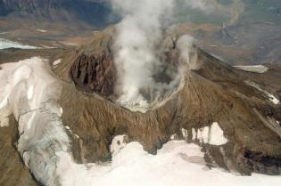 Steaming Mt Martin is one of Katmai National Park's active volcanoes. From the National Park Service website.