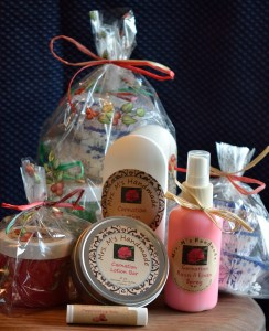 Velda and Alley have several products, each in many fragrances that they are now offering. They have one retail outlet ... a boutique in northern California's wine country.