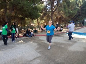 Velda, completing the Turkey Trot in San Dimas last month. I couldn't be prouder.