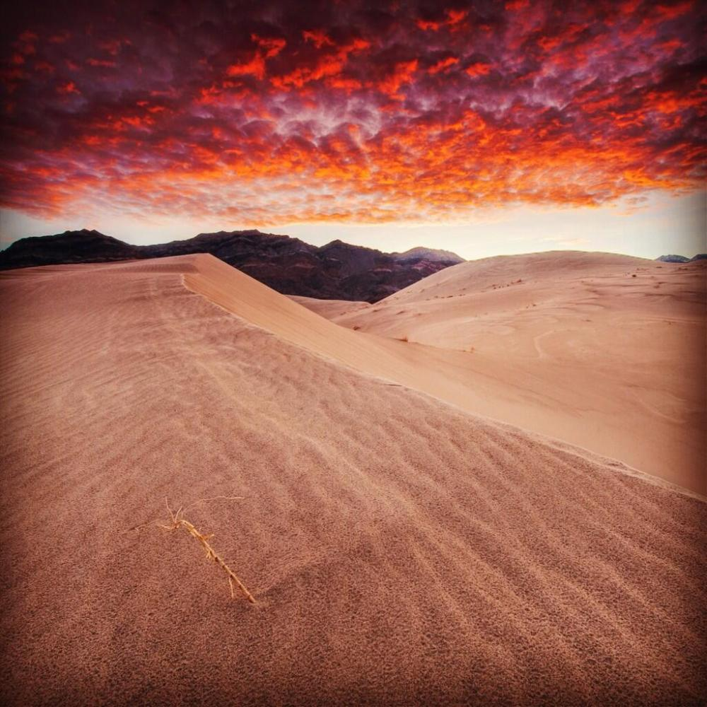 Sunrise over Death Valley. Photo: David Kiene. Tweeted by the US Department of the Interior, 1/18/14.