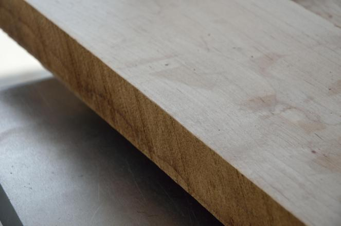 The problem is that hardwood often comes with rough edges. When you have a rough edge, you can't make a reliable, straight and square cut.