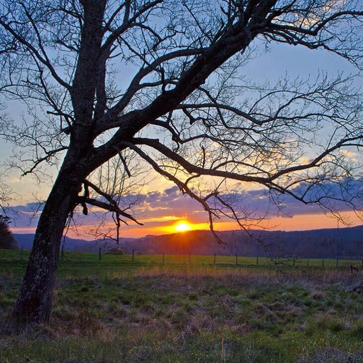 Beautiful sunset over Cades Cove in Great Smoky Mountains National Park this past weekend. Photo: Kristina Plaas. Tweeted by the US Department of the Interior on 4/15/14.