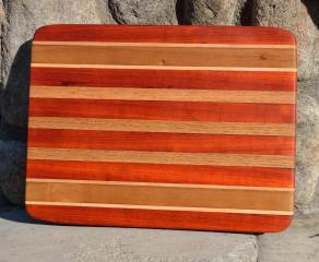#37: Padauk, Hard Maple, Cherry, Red Oak.