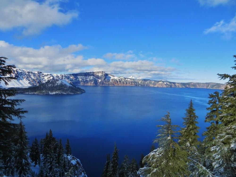Crater Lake National Park. Tweeted by the US Department of the Interior, 5/2/14.