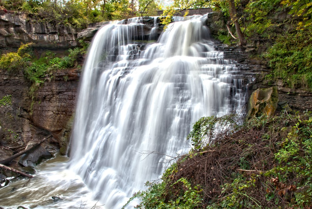 Though a short distance from the urban areas of Cleveland and Akron, Cuyahoga Valley National Park seems worlds away. The park is a refuge for native plants and wildlife, and provides routes of discovery for visitors. The winding Cuyahoga River gives way to deep forests, rolling hills, and open farmlands. Walk or ride the Towpath Trail to follow the historic route of the Ohio & Erie Canal.  Photo of Brandywine Falls by Brian Frankforther. Posted on Tumblr by the US Department of the Interior, 5/31/14.