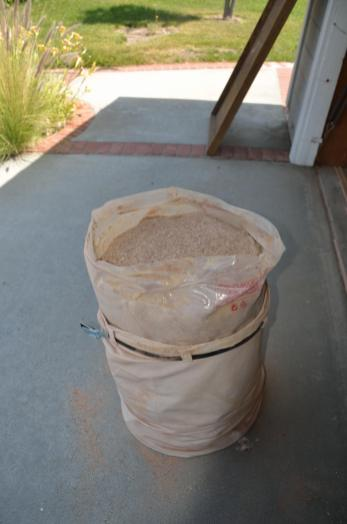 50 gallon bag of dust, out of the shop.