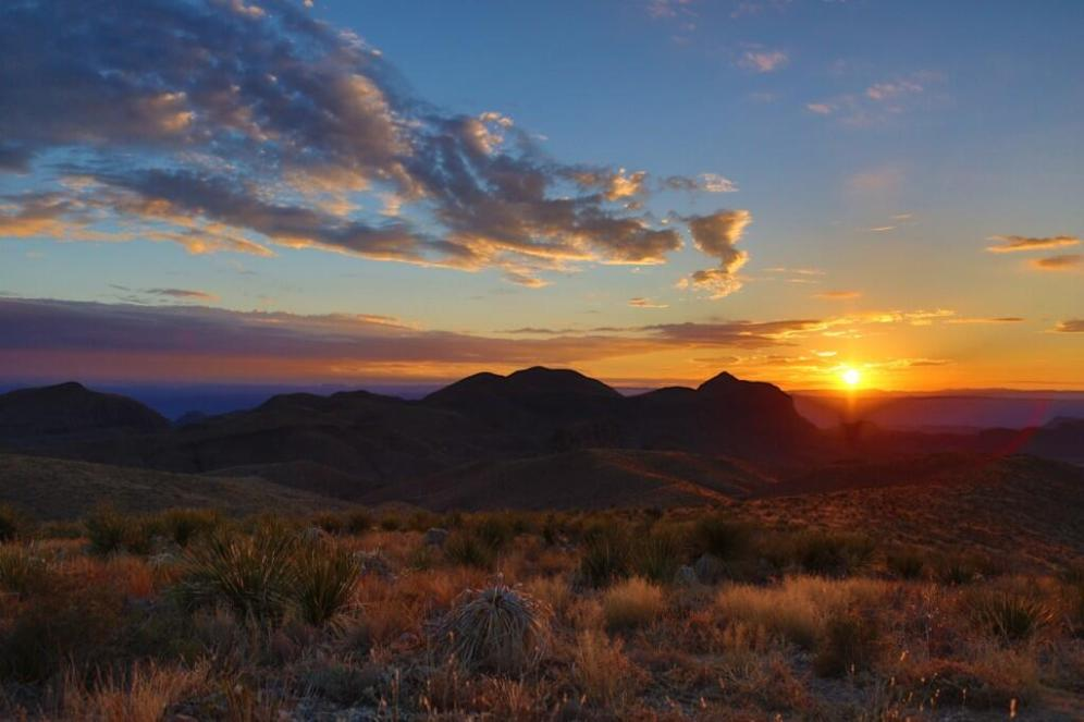 Sunset at Big Bend National Park. Tweeted by the US Department of the Interior, 6/11/14.