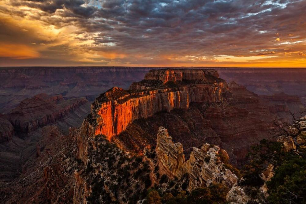 Sunset at Grand Canyon National Park. Tweeted by the US Department of the Interior, 6/30/14.