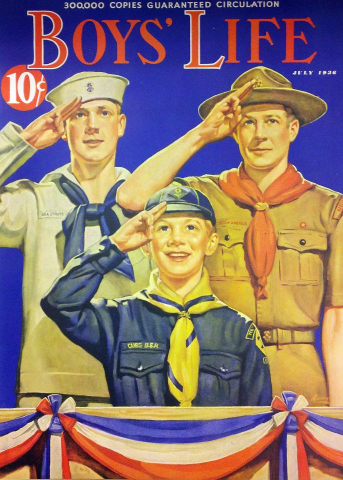 The cover of Boys Life, July 1936.