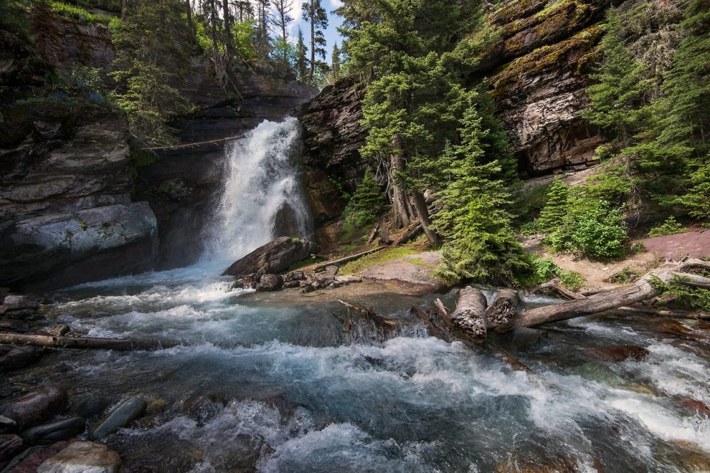 Oh, to feel the mist from Baring Falls! A short moderate jaunt from the Going-to-the-Sun-Road on the eastern side of Glacier National Park. Posted by the US Department of the Interior on Tumblr, 7/8/14.