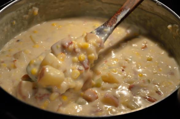 Bacon Corn Chowder 14
