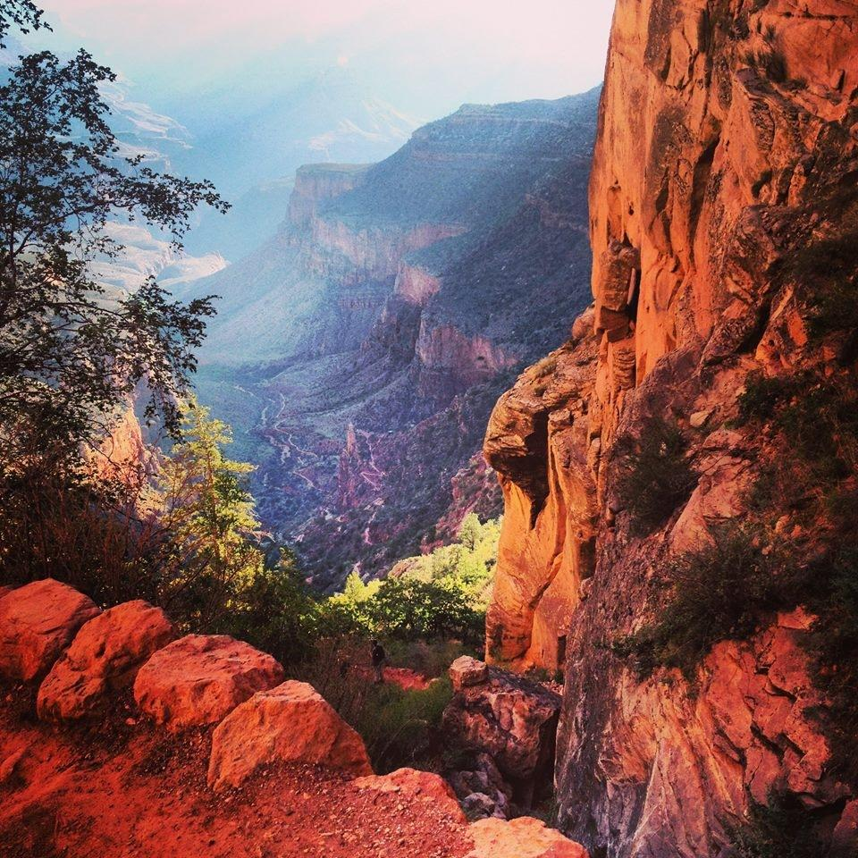 Bright Angel Trail, Grand Canyon National Park. Tweeted by the US Department of the Interior, 8/19/14.