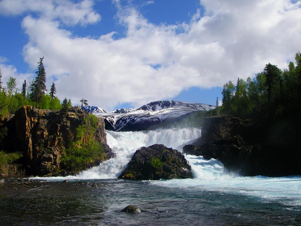 Tanalians Falls. Lake Clark National Park. Tweeted by the US Department of the Interior, 8/26/14.