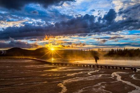 A rainy sunset at Yellowstone National Park. Photo by Manish Mamtani. Tweeted by the US Department of the Interior, 8/20/14.