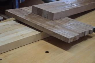 Time to smooth the cutting board insert glue ups.
