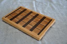 "# 30 Cutting Board, $40. Hard Maple and Black Walnut End Grain Board. 12-7/8"" x 8-3/8"" x 1""."