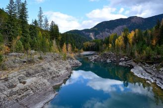 Middle Fork, Flathead River, Glacier National Park. Posted on Tumblr by the US Department of the Interior, 10/16/14.