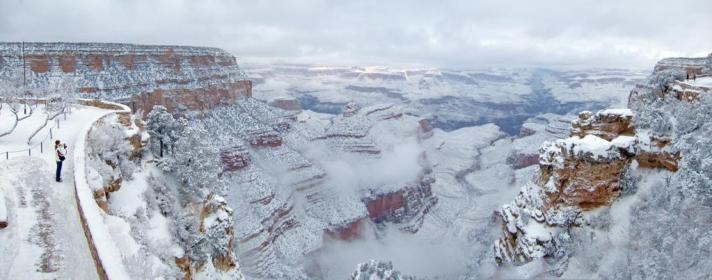 Grand Canyon: the view from South Rim Historic District.. Tweeted by the US Department of the Interior, 1/5/15.