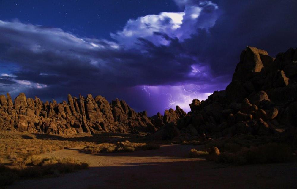 Lightning dances over the Alabama Hills National Recreation Area in California. Photo by David Parry. Tweeted by the US Department of the Interior, 2/27/15.