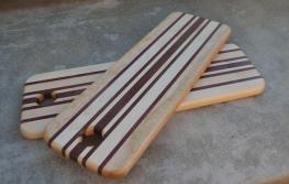 "Bread Board 15 - 07. Hard Maple and Purpleheart. 5"" x 15"" x 3/4""."