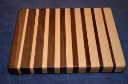 "Cutting Board # 15 - 006. Black Walnut & Hard Maple edge grain. 12"" x 16"" x 1-1/2""."