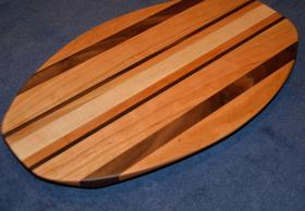 Surfboard # 15 - 05. Cherry, Black Walnut and Hard Maple.