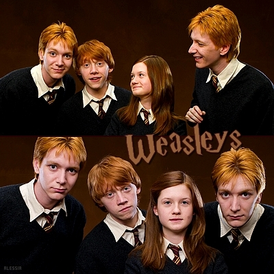 Four siblings from everyone's favorite fictional family of gingers: The Weasleys.