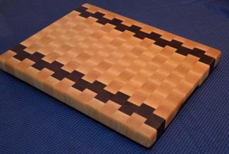 "Cutting Board # 15 - 039. Hard Maple and Jatoba End Grain. 14"" x 18"" x 1-1/2""."