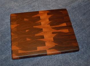 """Small Board # 15 - 032. Black Walnut end grain. 9"""" x 11"""" x 1""""."""