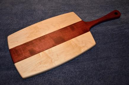 """Sous Chef # 15 - 18. Hard Maple and Purpleheart. 11"""" x 18"""" x 1""""."""