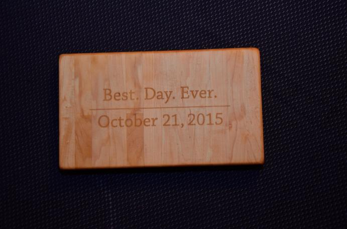 A variation of the all maple engraved board ... Best. Day. Ever.