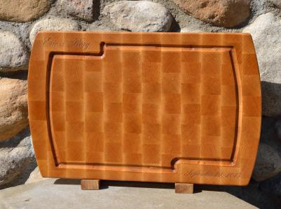 """Special wedding board made with end grain hard maple. 13"""" x 19"""" x 1-1/4"""". $150, plus $20 shipping."""