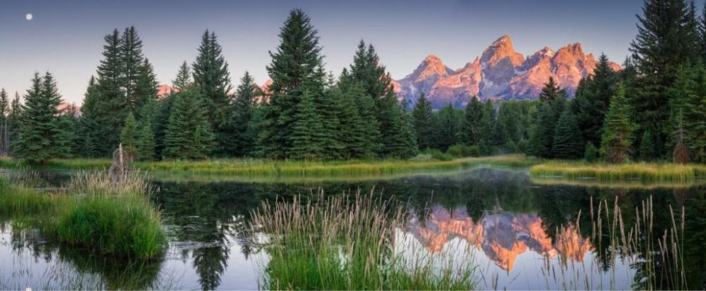 Grand Teton National Park in all of its summer glory. Picture by Brock Slinger. Tweeted by the US Department of the Interior, 8/12/15.