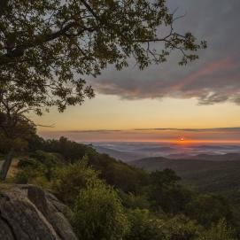 Hazel Mountain Overlook in the Shenandoah National Park. Tweeted by the US Department of the Interior, 6/29/15.