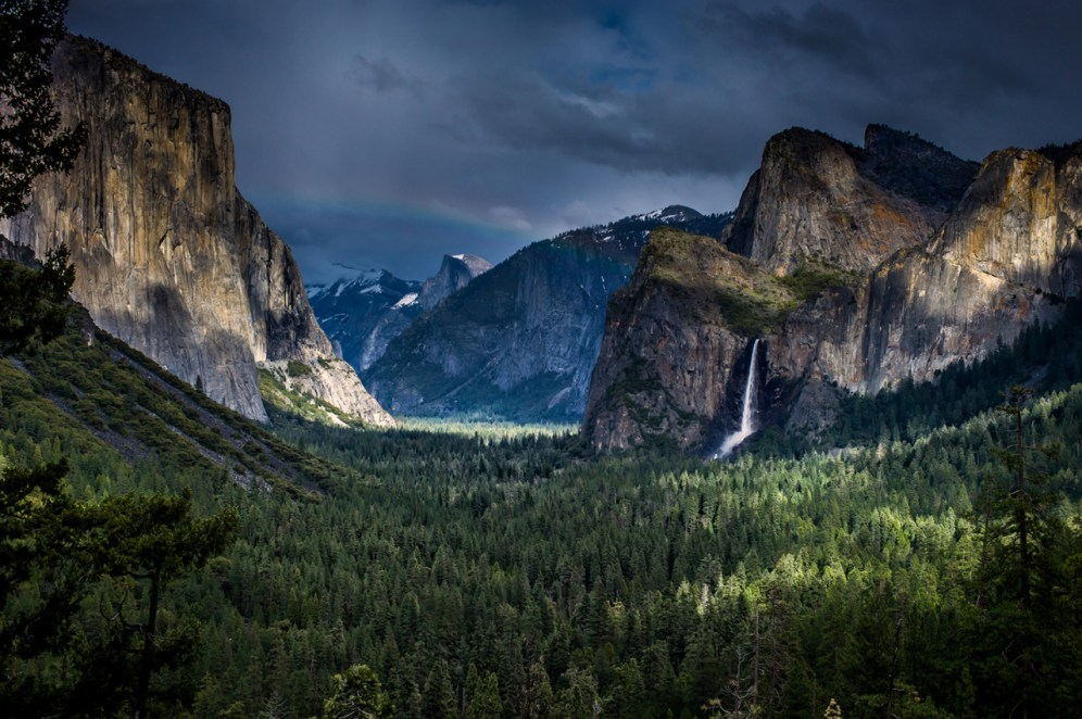 Yosemite National Park. Don't miss the rainbow! Photo by Ece Batchelder. Posted on Tumblr by the US Department of the Interior, 6/25/15.