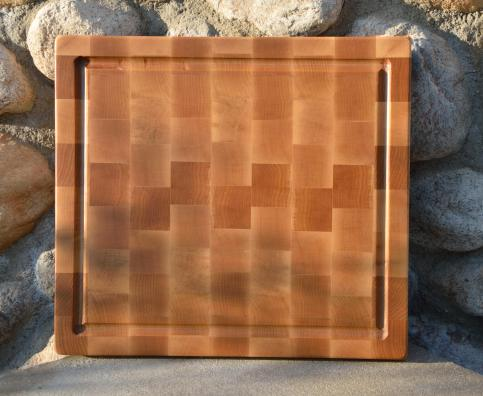 "Cutting Board 15 - 046. Hard Maple. Juice Groove. End grain. 12"" x 15"" x 1-1/4""."