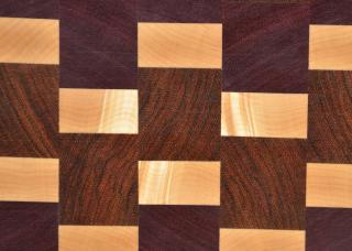 Detail of irridescent rays in cutting board # 15 - 052.