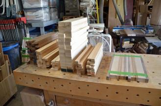 "The stacks of parts are ready for what I call ""picking and processing"" the boards."
