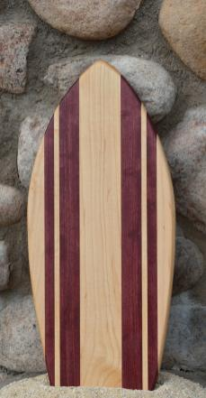 Small Surfboard # 15 - 08. Hard Maple & Purpleheart.