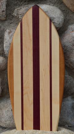 Small Surfboard # 15 - 11. Cherry, Hard Maple & Purpleheart.