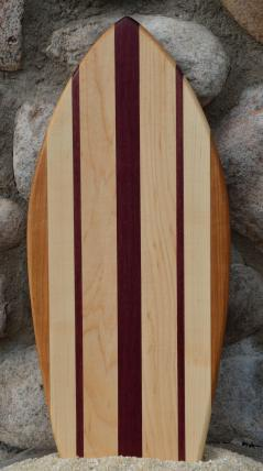 Small Surfboard # 15 - 11. Cherry, Hard Maple & Purpleheart.