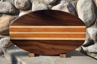 Surfboard 15 - 08. Black Walnut, Hard Maple & Cherry.