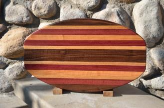 Surfboard 15 - 09. Black Walnut, Purpleheart, Red Oak & Cherry.